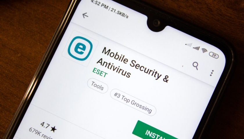 Eset Antivirus on mobile phone